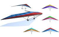 Hang glider collection lowpoly 3d model