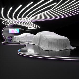 scene car exhibition 3D