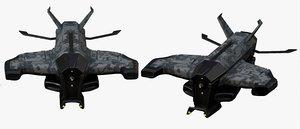 3D model futuristic military