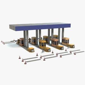 toll plaza 3D model