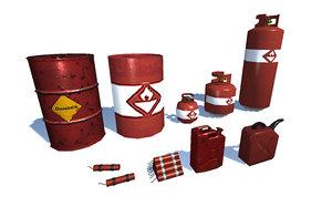 3D explosive barrel cylinder