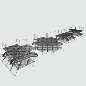 pbr modular sci fi 3D model