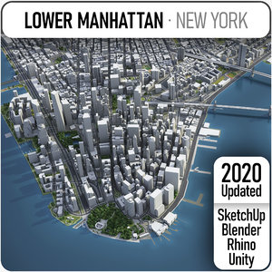 3D lower mahhattan - new york