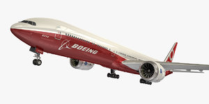 boeing 777-9 red model