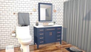 3D model toilet room