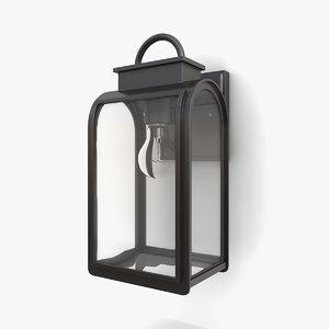 outdoor wall lantern 20 3D model