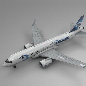 3D egyptair express airbus a220-300