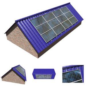 3D pv solar roof panels