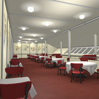 lz 129 hindenburg restaurant 3D model