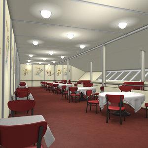 lz 129 hindenburg restaurant 3D model