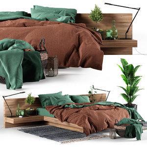 3D bedroom set loft
