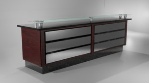 3D reception counter model