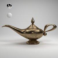 3D model vintage magic lamp