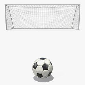 3D soccer ball flies corner model