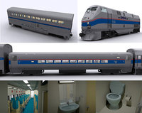 amtrak locomotive 3D model