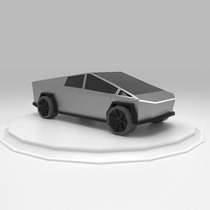 3D truck cybertruck