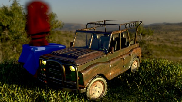 3D model pubg jeep