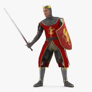 crusader knight king attack 3D
