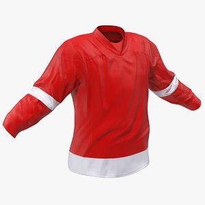 hockey jersey red 3D model