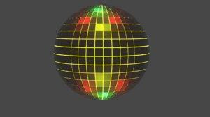 3D s disco ball model