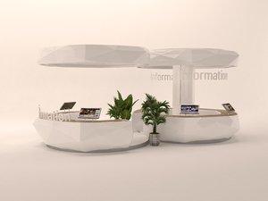 3D information desk info