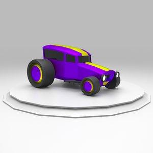 hot rod racing car 3D model