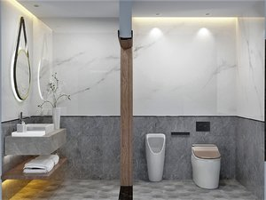3D bathroom set model