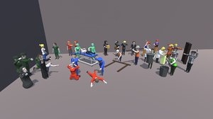 3D pack characters occupations model