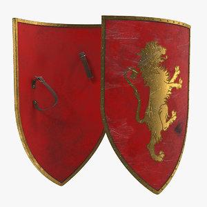3D knight shield model
