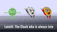 character lateili clock late 3D model