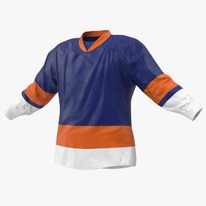 3D hockey jersey blue model