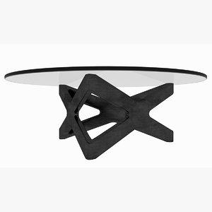 minimalist wooden x triangle 3D model