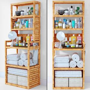 shelves towels 3D