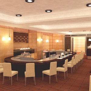 japan teppanyaki restaurant model