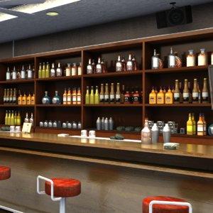 3D bar interior