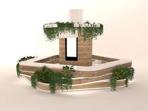 information desk info 3D
