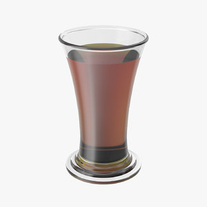 3D realistic shot glass model