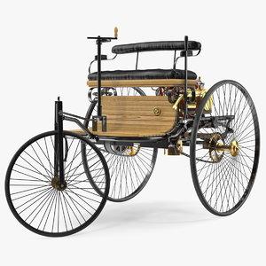 3D benz patent motorwagen rigged car