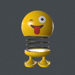 emoji winking 3D model