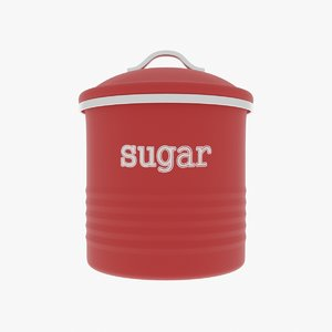 sugar canister 3D