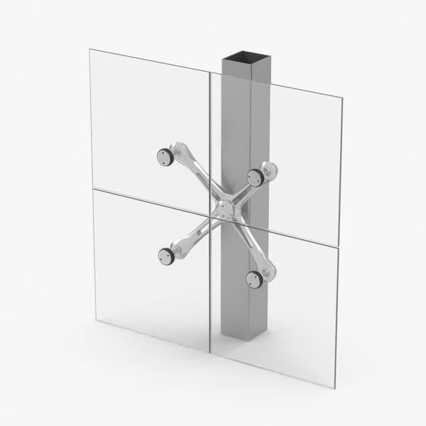3D spider glazing