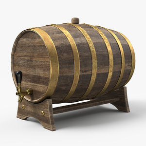 3D whiskey barrel