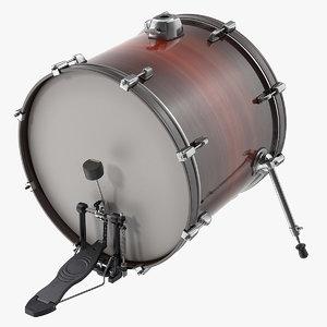 bass drum pedal 3D