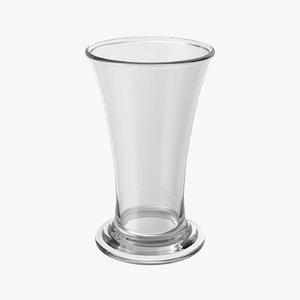 realistic shot glass 3D