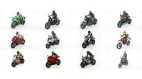 12 Low Poly Motorcycles