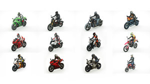 3D 12 motorcycles