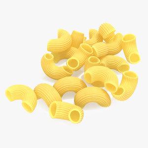 elbows pasta 3D model