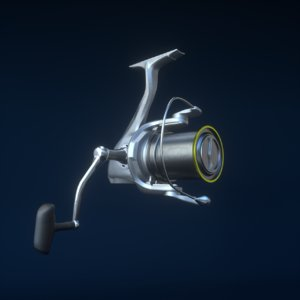 3D fishing reel model