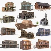 western buildings 3D