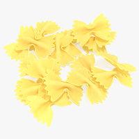 3D farfalle pasta model
